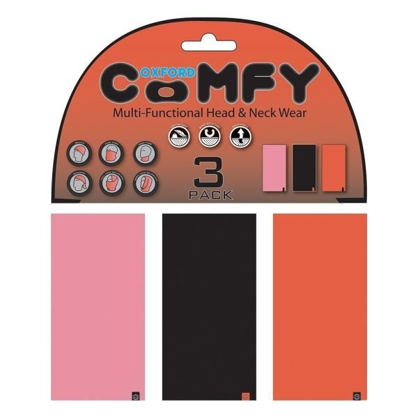 Oxford Multi Functional Head & Neck Wear model Pink/Black/Red