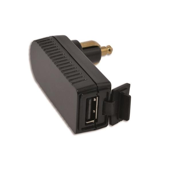 Baas Haakse DIN stekker met USB ingang